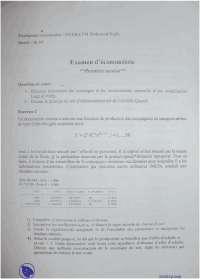 Exercices d'économétrie