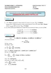 Notes sur les principes de thermodynamique des solutions - correction