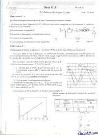 Exercices sur les oscillations électriques forcées, Exercices de Mathématiques