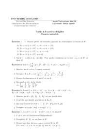 Notes sur les espaces vectoriels 2