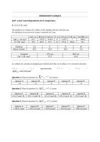 Notes sur le thème de la thermodynamique - exercices