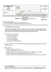 Notes sur la cristallochimie - correction 3