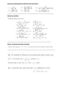 Notes sur la décomposition en éléments simple des fractions - exercices