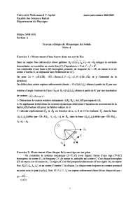 Notes sur la série de mécanique du solide exercices 4