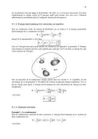 Notes sur le thème de l'électrostatique-électrocinétique - 3° partie