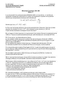 Notes sur les principes de mécanique quantique - exercices