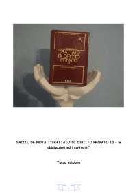 Trattato di diritto privato - obbligazioni e contratti - SACCO - DE NOVA