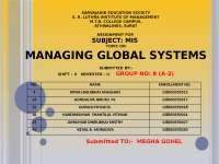 managing global systm