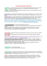 CONCETTI FONDAMENTALI FRANCESE