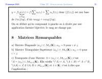Notes sur les applications linéaires - 3° partie