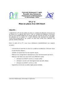 Exercices sur la mise en place d'un IDS Snort