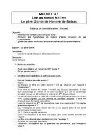 Notes sur un roman réaliste: Le père Goriot de Honoré de Balzac - 1° partie
