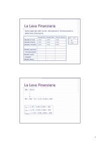 Esercizi - Leva Finanziaria