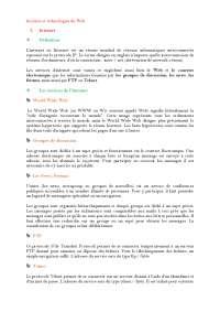 Notes sur Internet et les technologies du Web