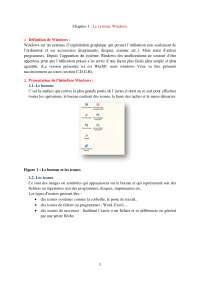 Notes sur le système Windows