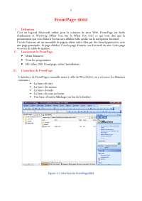 Notes sur Front Page 2003
