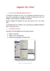 Notes sur Word