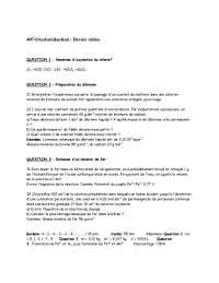 Exercices sur l'oxydoréduction:devoir rédox