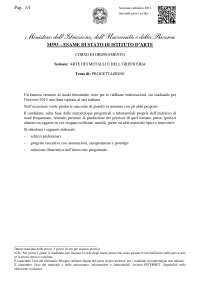 Tracce maturità 2013 progettazione (arte metalli e oreficeria) istituto d'arte