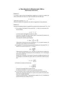 Travaux pratiques d'algèbre 2, Exercices de Méthodes mathématiques pour l'analyse numérique et l'optimisation