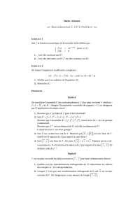 Exercice - Math - la fonction numérique de la variable réelle