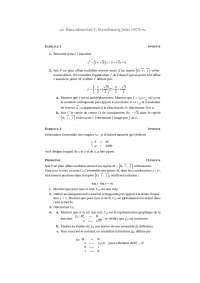 Sciences mathématiques - exercitation 15
