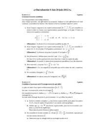 Algèbre – correction des exercices 7