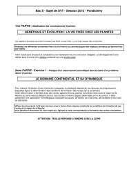 Examen de biologie/géologie 11