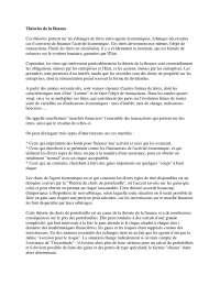 Notes de macro-économie - Théories de la finance