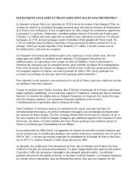 Micro-économie - Banques anglaises & françaises histoire