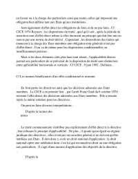 Notes de droit communautaire - 3° partie