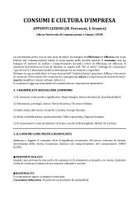 Appunti Lezioni Consumi e Cultura d'impresa - Ferraresi Ironico - IULM