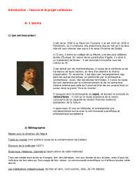 Notes sur l'étude d'une oeuvre de Descartes