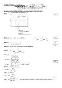 Examen sur la séparation des éléments fer et cuivre - corrigé