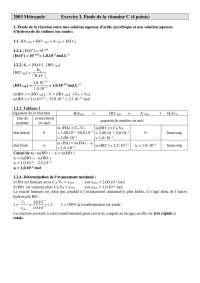 Sciences chimiques - exercitations sur l'étude de la vitamine C - correction