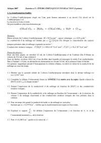 Travaux pratiques sur l'étude cinétique d'une réaction