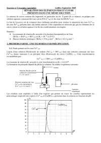 Examen sur la séparation des éléments fer et cuivre