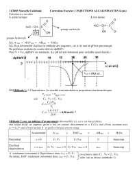 Sciences chimiques - exercitations sur les injections alcalinisantes - correction