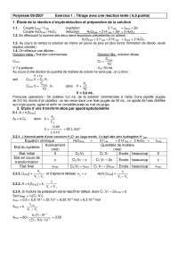 Travaux pratiques sur le titrage avec une réaction lente - correction, Exercices de Chimie