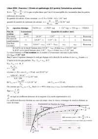 Chimie - exercitation sur la chimie et la spéléologie - correction