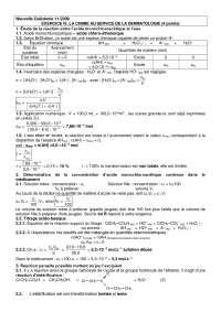 Chimie - exercices sur la chimie au service de la dermatologie - correction