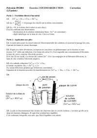 Chimie – travaux pratiques sur l'oxydo-réduction - correction