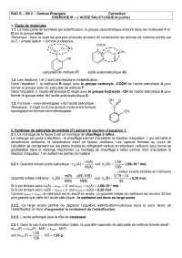 Chimie organique - contrôle 8 - correction