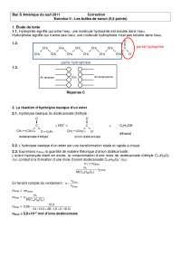 Chimie organique - contrôle 3 - correction
