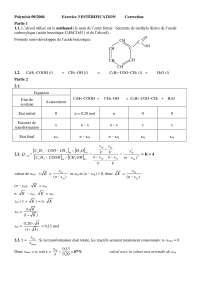 Exercices  - biochimie - l'estérification - correction