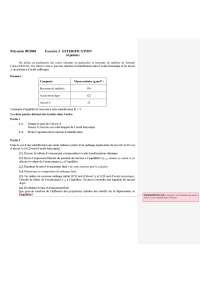 Exercices  - biochimie - l'estérification