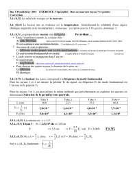 Travaux pratiques de sciences physisques 15 - correction