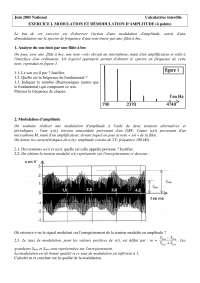 Contrôle de sciences physisques - la modulation et démodulation d'amplitude