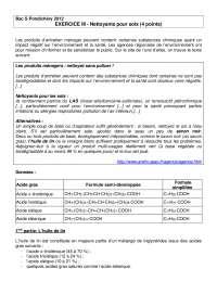 Chimie organique - contrôle 11