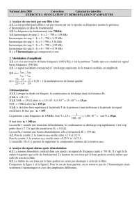 Contrôle de sciences physisques - la modulation et démodulation d'amplitude - correction